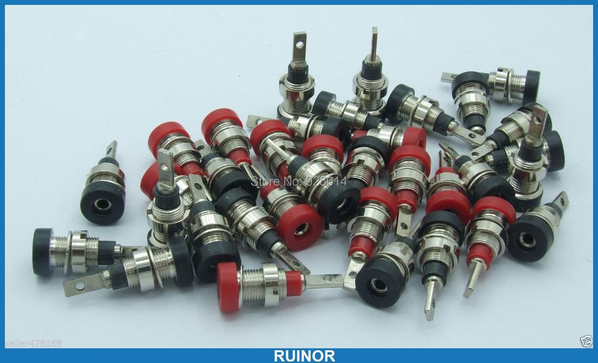 100PCS Copper 2mm Banana Socket for Multimeter Meter Probes 2.0mm binding posts100PCS Copper 2mm Banana Socket for Multimeter Meter Probes 2.0mm binding posts
