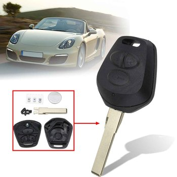 3 Buttons Car Remote Fob Key Case Shell With Battery Replacement For Porsche 911 996 Boxster S 986 image