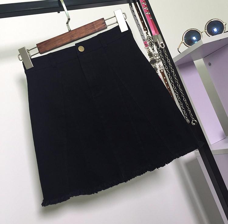 HTB1Xmh6OVXXXXcyXXXXq6xXFXXXR - American Apparel button Denim Skirt JKP265