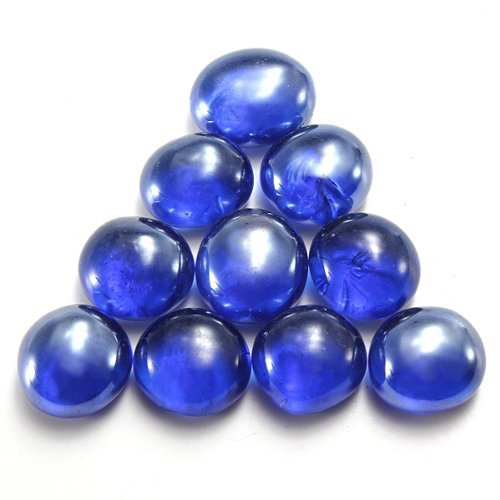 10pcs 14mm 4 7 gorgeous flat glass marbles beads balls for Fish tank marbles