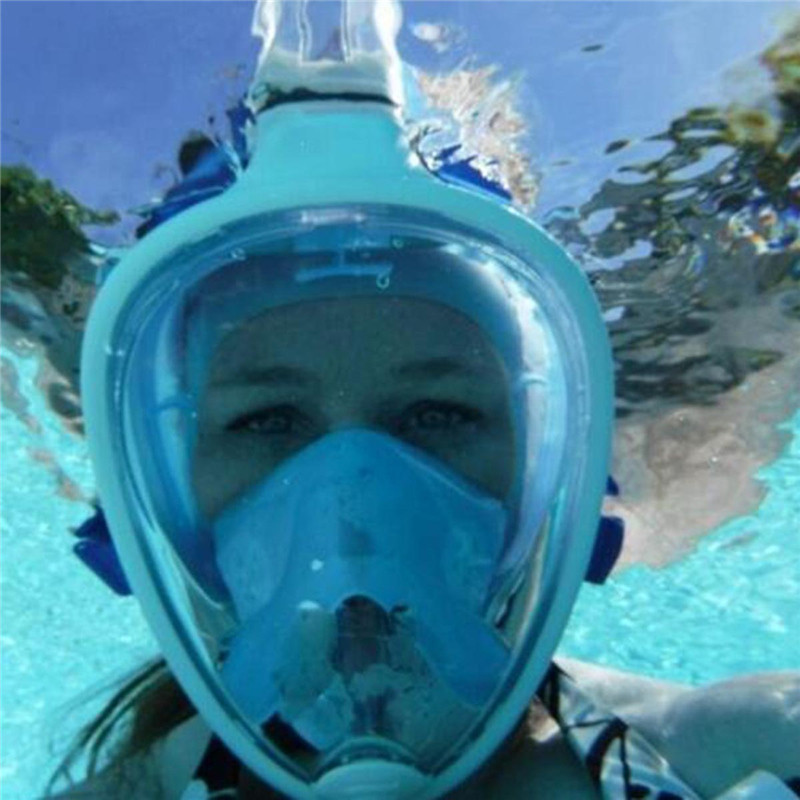 ФОТО Underwater Easy Breath Anti-fog Diving Masks Lightweight Snorkeling Mask Full 180 degree Wide View for Diving Swim High Quality