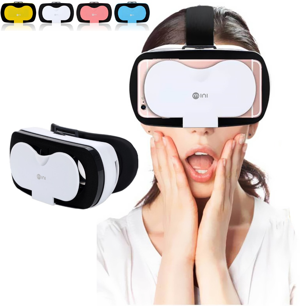 Mini 3D VR Headset Goggle Virtual Reality Glasses for Video Games 3D Movie Virtual Viewer VR Eye Glasses for Kids Adults Gift