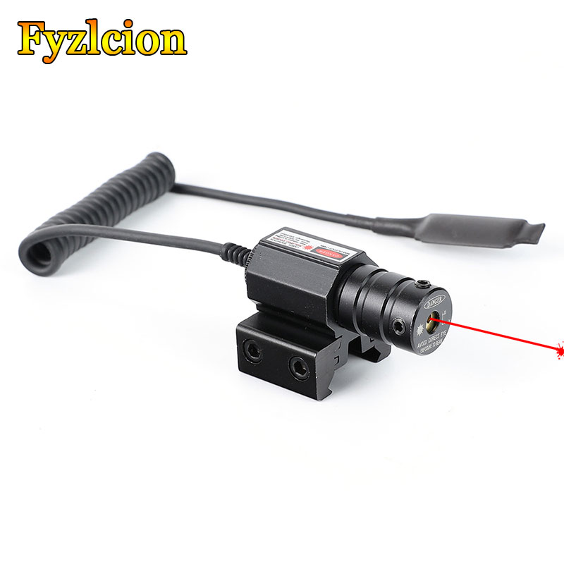 Tactical Hunting Red Laser Sight Scope Red Dot Mini  Dovetail Or Weaver Picatinny Rail Mount With Remote Pressure Switch