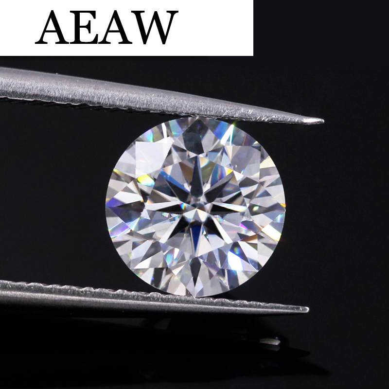 AEAW Similar to Forever one 7.0mm 1.2ct F Round Brilliant cut Moissanites Loose Stone Beads for Jewelry Making Retail Price