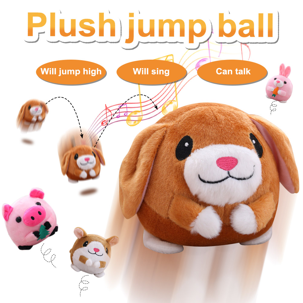 Electric Animal Ribbit Pig Hamster Toys Jump Ball Learn Stool Baby Girl Kids Xmas Gift NSV775 fisher price soothe & glow seahorse