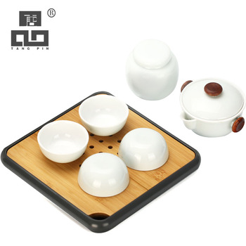 TANGPIN ceramic teapot with 4 teacups chinese kung fu tea sets drinkware