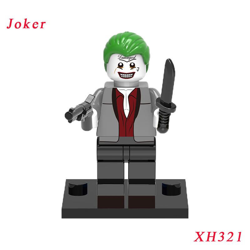 Suit Joker Figure Single Sale Building Blocks Suicide Squad Movie ]With Base Mini Dolls Best Children Gift Toy