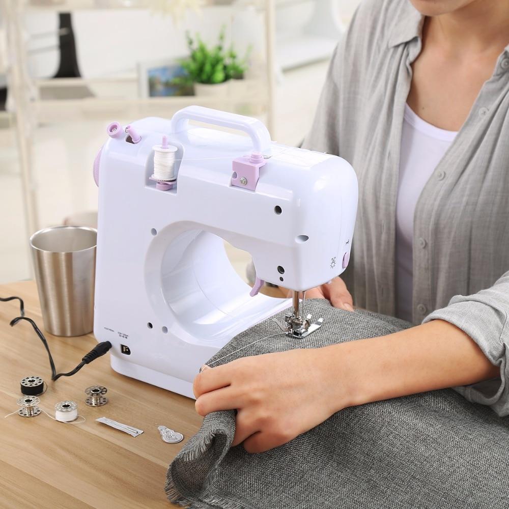 الكهربائية البسيطة ماكينة خياطة s 12 غرز سرعتين غرزة قابل للتعديل المنزلية ماكينة خياطة الحياكة آلة مصباح ليد EUplug-في ماكينات خياطة من المنزل والحديقة على  مجموعة 2