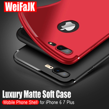 WeiFaJK Luxury Matte Back Silicone Case For iPhone 5s 6 6s For iPhone 7 Cases Soft TPU Full Cover For iPhone 6 6s 7 Plus X Case matte anti fingerprint soft tpu case for iphone 6s 6 4 7 inch black