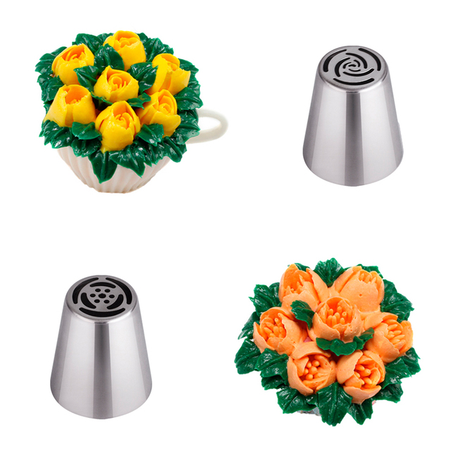 Nozzles Cake Cupcake Decoration Nozzles Stainless 4