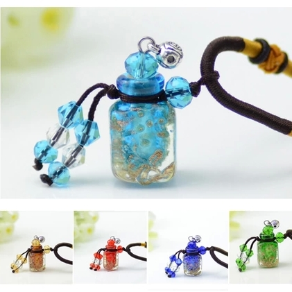 Creative Color Glass Aroma Oil Pendant Necklace MINI Essential Oil Bottle Perfume Vials Wish Bottles Girls Gift 5pcs/lot DC243 100 pcs lot of small glass vials with cork tops 1 ml tiny bottles little empty jars