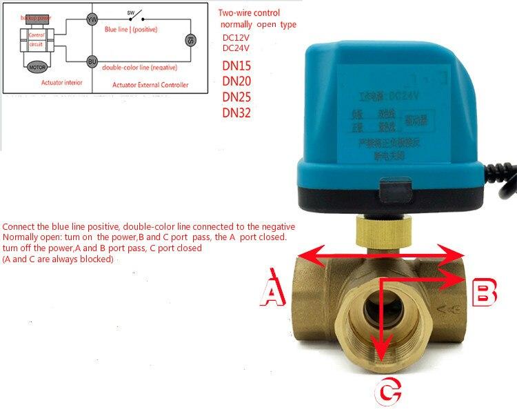 Electric actuator valve ac220v dc24v dc12v electric ball