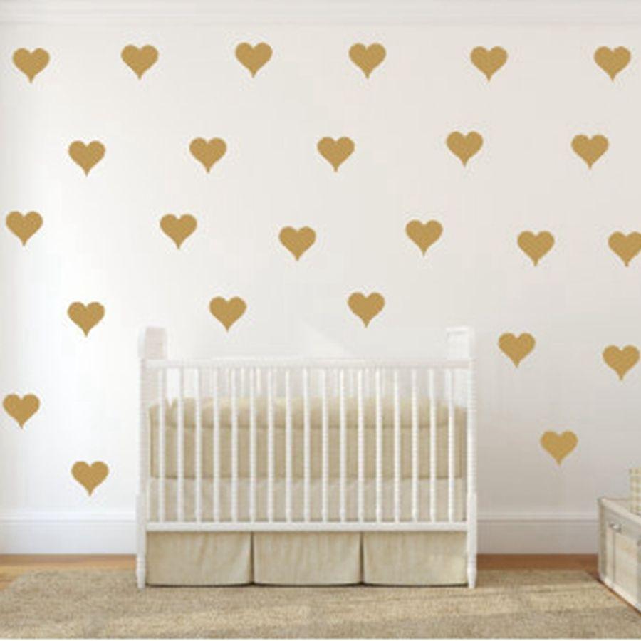 popular wall stickers hearts buy cheap wall stickers hearts lots free shipping metallic gold wall stickers heart shaped pattern vinyl wall decals nursery art decor