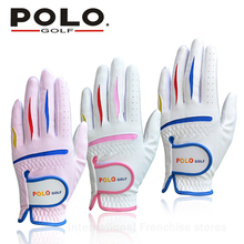 020521 font b POLO b font Children s Golf Gloves Pair Soft and Comfortable Gants De