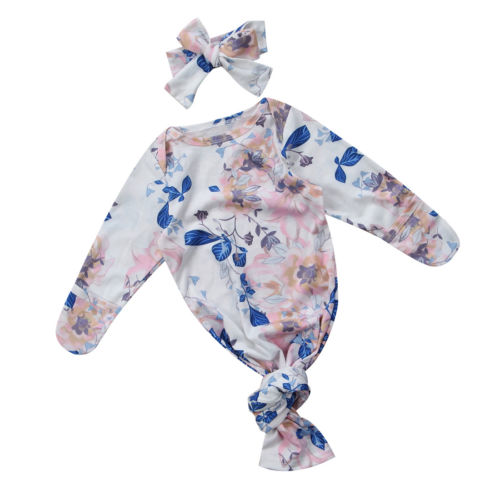 Newborn Baby Boys Girls Sleeping Bags Swaddle Blanket Soft Long Newborn Baby Floral Props Suit