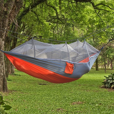 Sleeping Bed Hammock with Mosquito Auto Parachute Fabric Garden Outdoor Camping Travel F ...