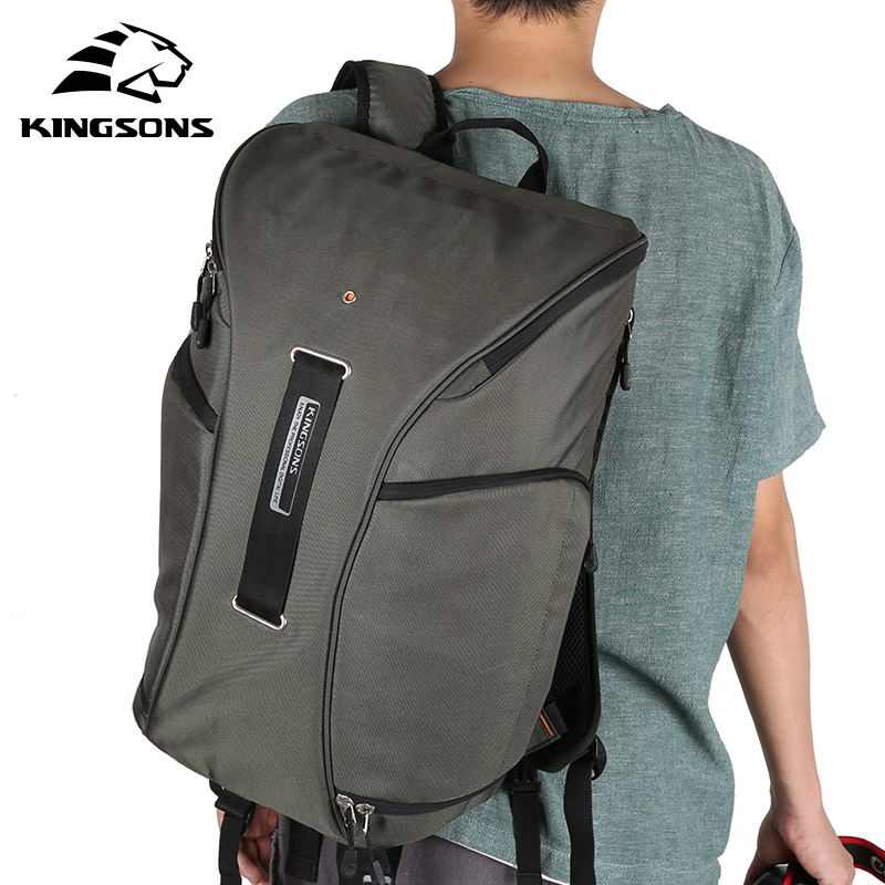 Kingsons Brand New Backpack for Men Women Digital DSLR Photo Padded Backpack  w  Rain Cover Waterproof Camera Video Soft Bag-in Backpacks from Luggage    Bags ... 0099e260d3dc4