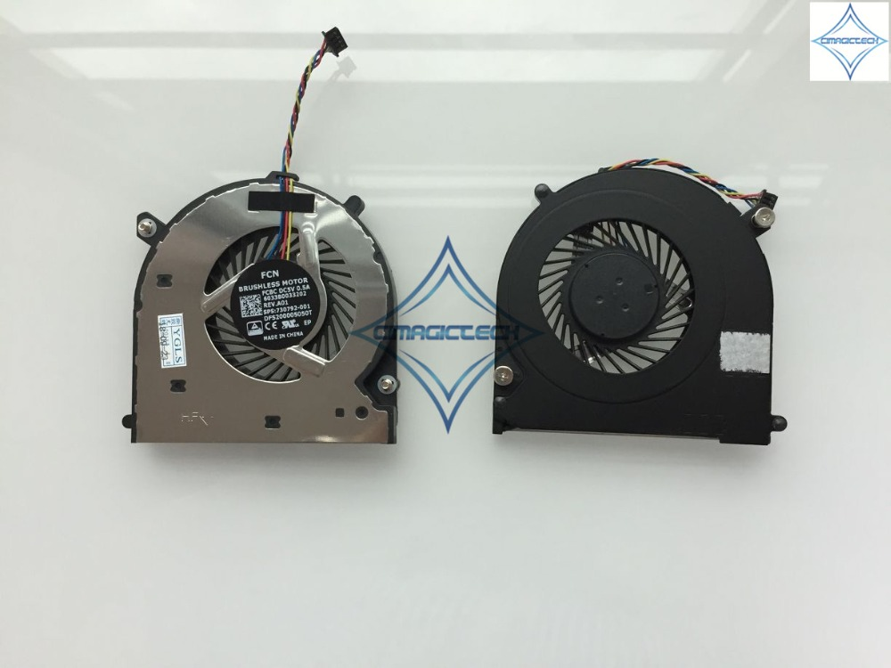 original new for HP EliteBook 740 745 755 840 850 ZBook 14 G1 G2 DFS200005050T 730792-001 6033B0033202 laptop cpu cooling fan image