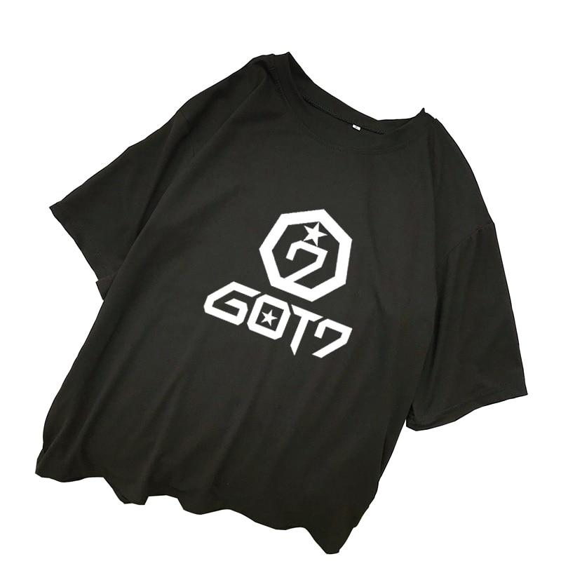 GOT7 T Shirts Women Summer Harajuku Short Sleeve Casual Loose Letter Printed Tee Shirt Femme Streetwear Korean Ulzzang Kpop Tops