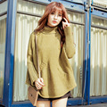 2016 new winter  needle sleeve head South Korea thick thin women sweater blended loose turtleneck