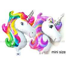 (20pcs/lot)new unicorn birthday balloons mini size head style foil classic toys party