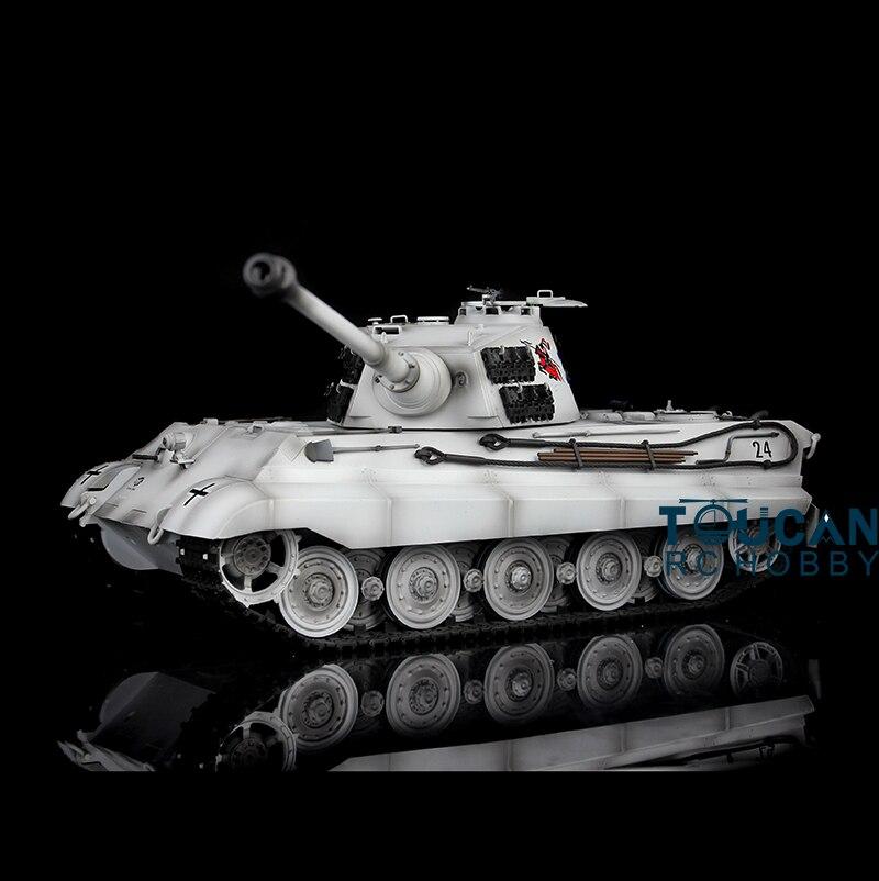 1/16 Scale Winter Snow HengLong German King Tiger II RTR RC Tank Model 3888A Upgraded Metal Version Tracks Sprockets все цены