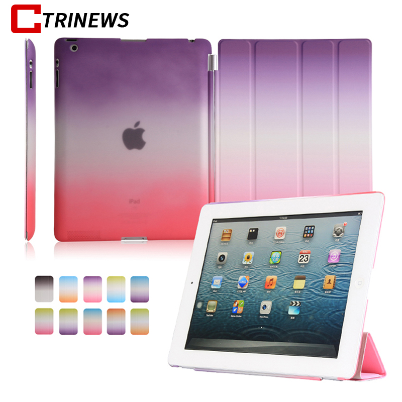CTRINEWS Smart Flip Case For iPad 2 3 4 Full Cover Stand PC PU Leather Cases For iPad 4 Tablet Protective Case Wake up / Sleep ctrinews for apple ipad pro 9 7 tablet case smart leather cover flip case for ipad pro 9 7 inch pc back cover wake up sleep