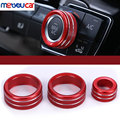 3Pcs/set Fit For BMW 3 Series F30 GT X1 F48 2013-2017 Car Styling Air Conditioning Knobs Audio Circle Trim Aluminum Accessories