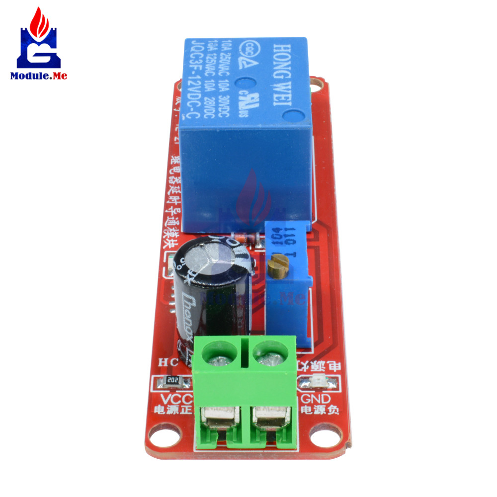 Ne555 Trigger Timer Switch Delay Connect Module Adjustable Time Connecting The Circuit To A Relay Dc 12v 10a 0 10 Seconds With Led Indicator Board In Integrated Circuits From