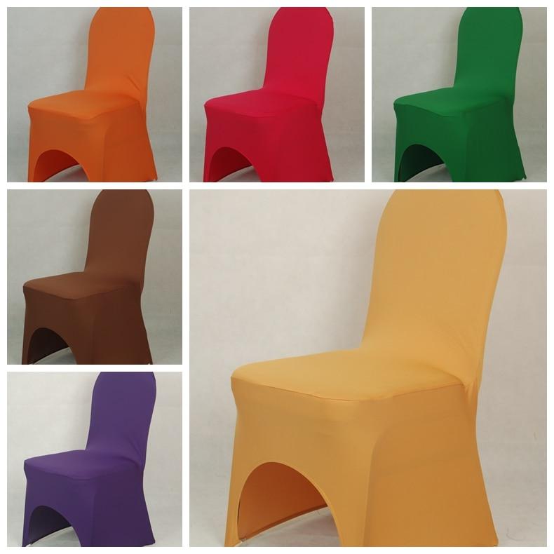 Lycra სკამის საფარი 220 გრამი რკინა ფეხების რკალის ფეხებით რკინის თაღოვანი წინა მაღალი ხარისხის საბანკეტო ქორწილისთვის და სასტუმროს საბითუმო იაფი
