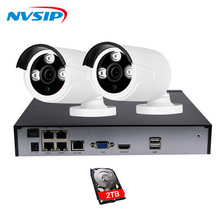 4CH 1080P POE NVR Kit 2MP IP camera IR Night Vision Waterproof IP67 P2P Cloud Service 1080P PoE CCTV Surveillance system