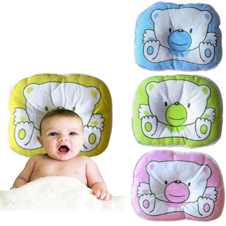 Подушка с медведем для новорожденных, мягкая подушка для сна с плоской головкой