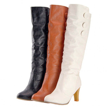 new trend ladies's knee excessive boots Knight boots excessive heels