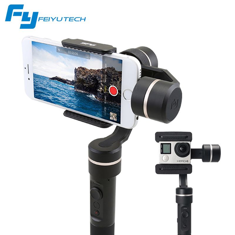 FeiyuTech SPG 3-Axis Gimbal Handheld Smartphone Stabilizer for iPhone/Xiaomi/Samsung S7 Zoom Button Selfie Stick yuneec q500 typhoon quadcopter handheld cgo steadygrip gimbal black