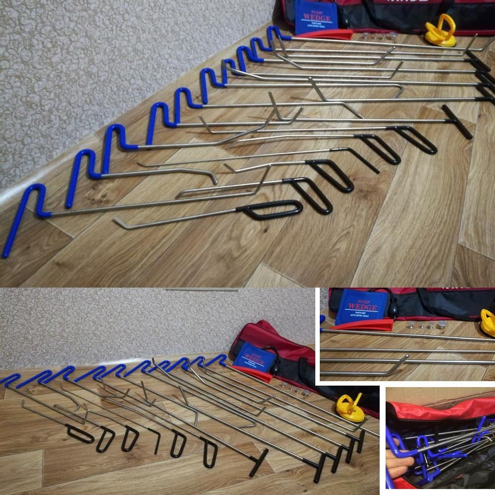 Инструменты для проверки вмятин ремонтный насос Клин насадки на молоток кран вниз ручка вмятин царапин удаление Инструменты крюковые инструменты Толкатель ручной набор - 6