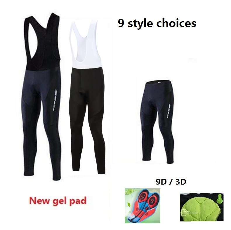 2016 Men/women Padded Cycling Long Bicycle Bib Pants High-quality 3D/9D Gel Pad Bike Tights Mtb Ropa Pantalon Ciclismo Invierno