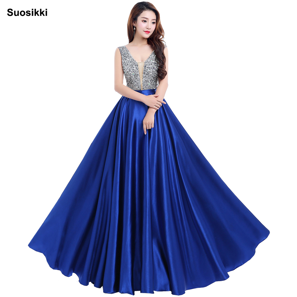 bff396cd1c2a Prom Dresses 2018 Deep V-Neck Backless Beads Crystal Party Gowns Sleeveless  floor-length. US $53.55. Wine Red Prom Dresses 2019 Women Elegant ...