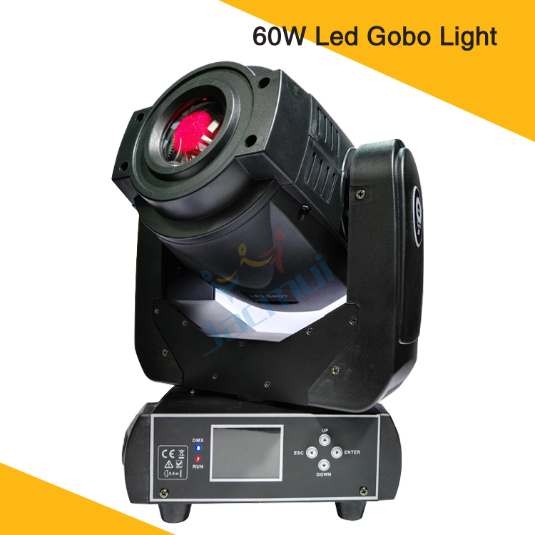 60W LED Gobo Projector Moving Head Spot Light Dmx512 Moving Head Stage Light For Event
