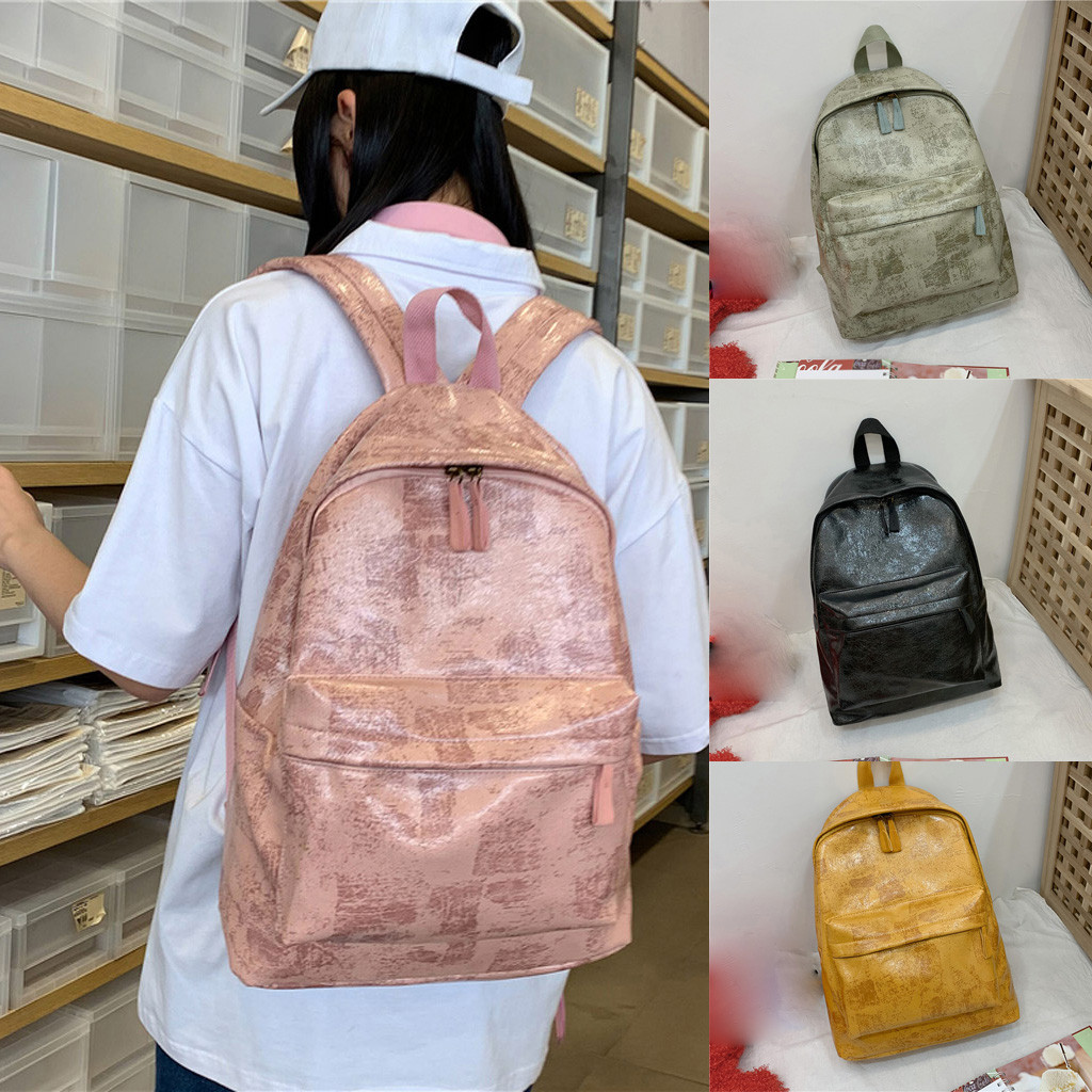 Anti Theft Backpacks Travel Teenage Backbag Fashion Ladies Trend Wild Color Zipper Large Capacity Backpack Student Bag mochila