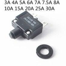 1 шт. тепловой автоматические выключатели Водонепроницаемый Пылезащитный колпак для 3A-30A тепловой защиты от перегрузки кнопочный переключатель