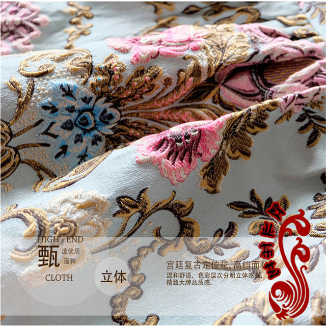 Brocade Home Decor metallic jacquard brocade dress fabric cloth width145cm*100cm