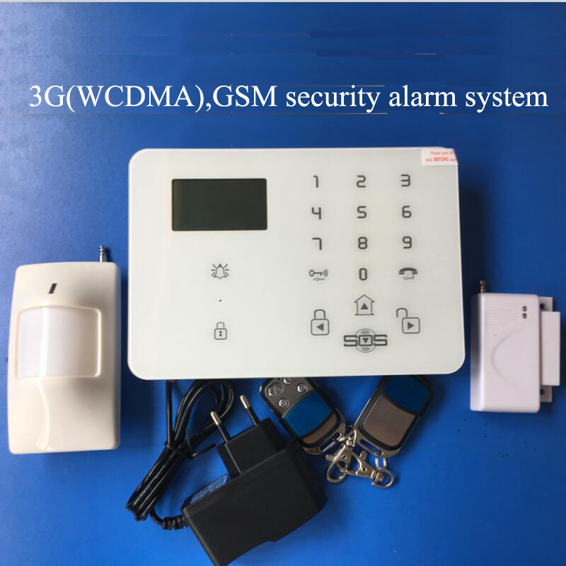 Home security 3G Alarm system with menu in multi-languages, GSM alarm with door contact,PIR detector,APP SMS controlled alarm simcom 5360 module 3g modem bulk sms sending and receiving simcom 3g module support imei change