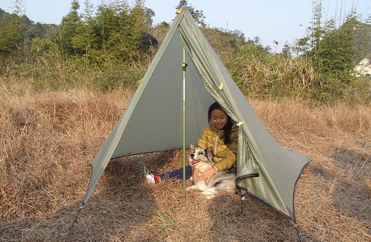 AXEMEN Black Hawk Ultra léger Double couche 1 2 personnes montagne sans fil tente Camping en plein air - 4