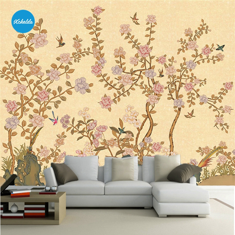 XCHELDA Custom 3D Wallpaper Design Flower Forest Hills Photo Kitchen Bedroom Living Room Wall Mural Papel De Parede Para Quarto custom 3d wallpaper mural chinese style flower and bird wallpaper restaurant living room bedroom sofa tv wall papel de parede
