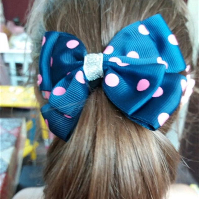 31 color  hair string Solid Ribbon Hairbow Handmade Pinwheel Bows With Elastic Band Windmill Hair Accessories Hair Rope
