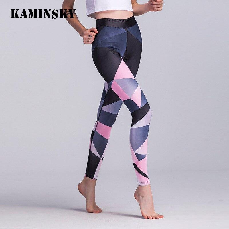 Kaminsky Fitness   Leggings   For Women Sexy Fashion Geometry Printing Leggins Mujer Polyester High Waist Women   Leggings