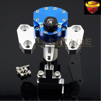 New Blue Motorcycle Steering Damper Stabilizer with Mounting Bracket Kit For YAMAHA MT09 MT-09 2014-2015