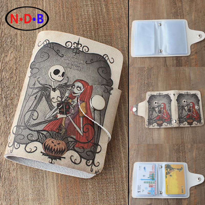 (Card & ID Holders)Cartoon Nightmare Before Christmas Jack and Sally skull card package male ladies fashion card package