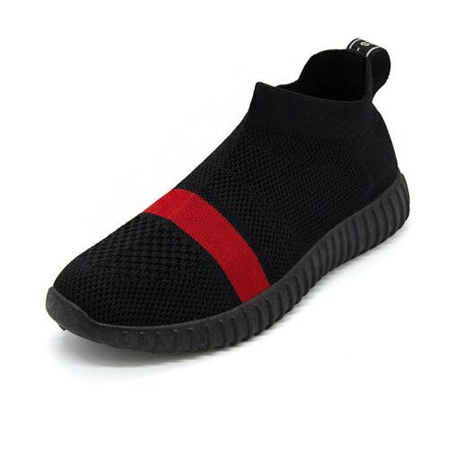 Chaussures Red Nouveaux 2018 Marque Rond Ms Black Maille Femme Printemps Automne Sneakers Femmes Mode gray black Casual Appartements Ipccm Bout pAYSxqFnn