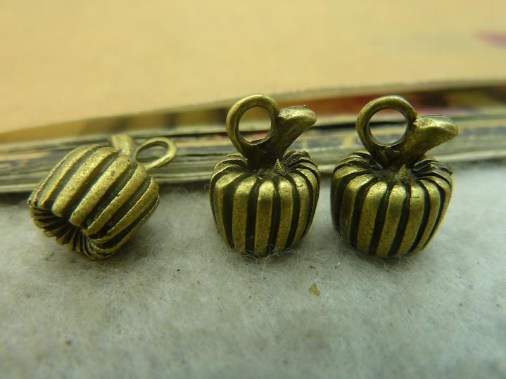 20Pcs Antique Bronze Pumpkin Charm DIY Jewelry Making